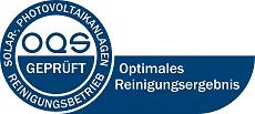 Siegel_OQS, Solar und PV Reinigung Föhr Schleswig Holstein